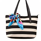 Canvas Stripe Silk Shoulder Bags HN Casual Handbag - Best Reviews Guide