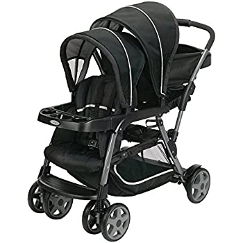 graco roomfor2 click connect stand and ride stroller gotham baby. Black Bedroom Furniture Sets. Home Design Ideas