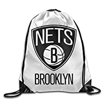 Zhanzy Brooklyn Nets Large Drawstring Sport Backpack Sack Bag Sackpack