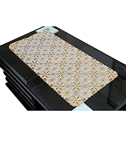 Kuber Industries PVC Table Runner - Gold (Assorted)