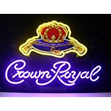 New Crown Royal Real Glass Neon Light Sign Home Display Beer Bar Pub Sign L46