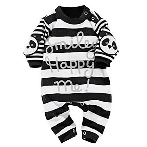 [Baby's Clothes, Mchoice Newborn Infant Baby Boys Girl Stripe Panda Print Romper Jumpsuit Outfits Clothes (0~6 Months,] (Panda Outfits For Babies)