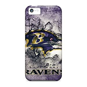 Tpu Case Cover Compatible For Iphone 5c/ Hot Case/ Baltimore Ravens by supermalls