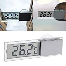 Shalleen LCD Digital Temperature Meter Indoor Home Outdoor Suction Cup Car Thermometer