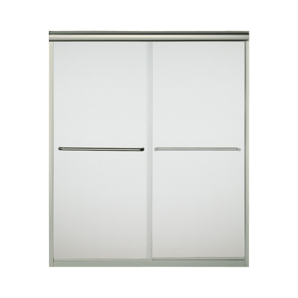 """70%OFF Sterling Plumbing 5475-59N-G03 Shower Door Bypass 70-1/16""""H x 54-5/8 - 59-5/8""""W Frosted Glass Nickel"""