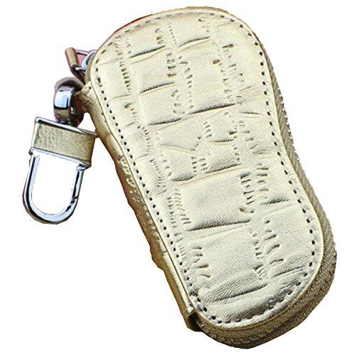 Jia Qing Leder Damen Herren Soft Schlüsselbund Key Case Griff Tasche J