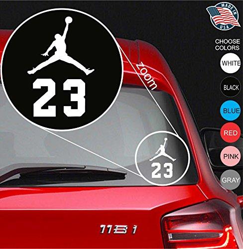 Micheal 23 Air Jordan Flight Logo Vinyl Decal Sticker - Car Window, Laprop, Wall, Mac (5.5