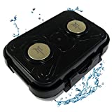 MiniMag Plus Extra Large Waterproof Strong Magnetic Stash Box - All Weather Hide a Key, Magnet Mount Locker Box, Geocaching Container, Under Car GPS Tracker Holder Case - Hide Your Stuff Anywhere