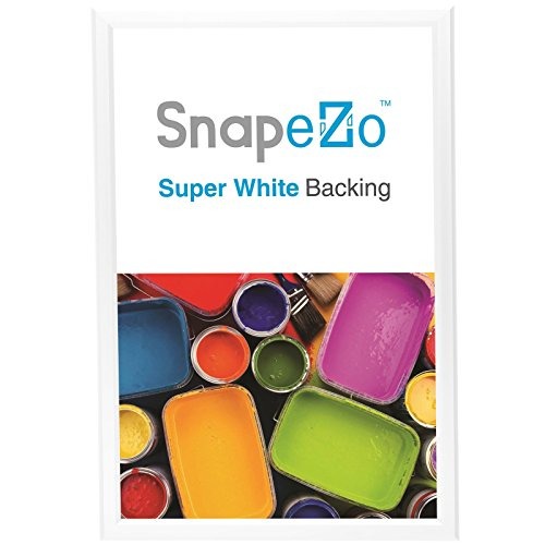 White Snap Frame 18x24 Inches, 1.25' SnapeZo Profile, Front Loading Quick Poster Change, Wall Mounted, Professional Series