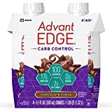 EAS AdvantEDGE Carb Control Protein Shake Chocolate Fudge Ready-to-Drink, 17 g of Protein 11 fl oz Bottle, 24 Count