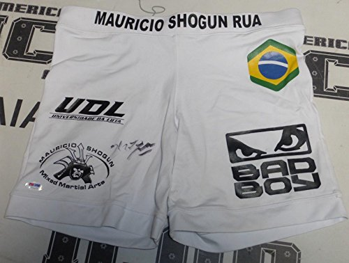 Mauricio Shogun Rua Signed Fight Shorts Trunks COA UFC 93 97 104 Model - PSA/DNA Certified - Autographed UFC Jerseys and Trunks