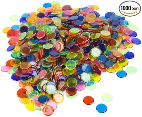 Brybelly Holdings GBIN-303 1000 Pack Mixed Colored Bingo Chips 7