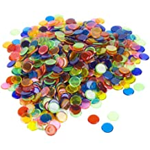 Royal Bingo Supplies 1000 Pack of Bingo Chips (Mixed) – Bulk Set of ¾-inch Translucent Markers for Bingo, Counting & Game Tokens, Great for Bingo Halls & Large-Size Games
