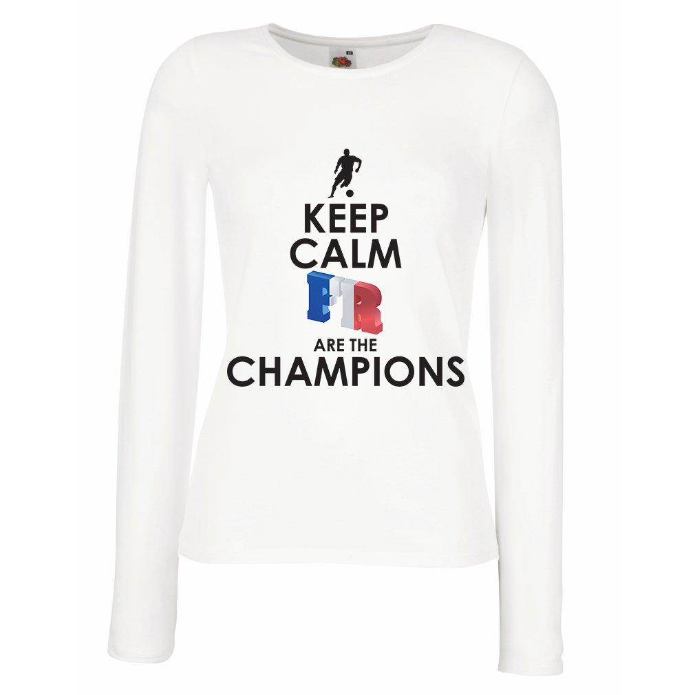 Camisetas de Manga Larga para Mujer Los franceses Son los campeones: Campeonato de Rusia 2018, Equipo de Fútbol de la Copa del Mundo, Camiseta de la Afición ...