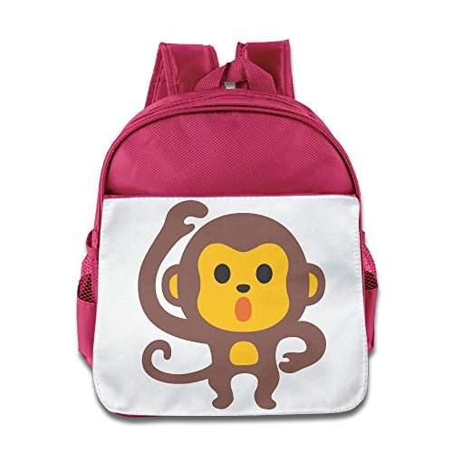 XJBD Custom Funny Cute Monkey Emoji Boys And Girls School Bagpack Bag For 1-6 Years Old - Falcon Emoji