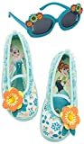 Disney Store Girl's Frozen Anna and Elsa Swim Shoes and Sunglasses Set, Size 11