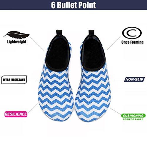 Aqua Blue Socks Sport Snorkeling Swim Eastsure White For Water Men Surf Stripe Shoes Women Yoga Beach pwZqwSIF