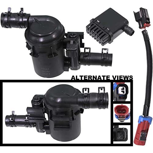 APDTY 022100 Fuel Tank Vapor Emission Canister Vent Solenoid Filter Kit Mounts Under Vehicle Near Gas Tank Fits 07-15 Chevrolet Silverado & GMC Sierra Pickup w/Gas Engine (Replaces 15114374, 23103351) for sale