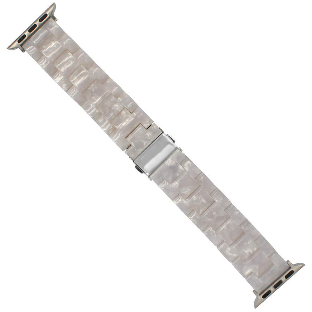 JiaMeng Cuentas de Cristal de Resina de Lujo Bling ágata Pulsera Correa para la muñeca Reloj para iwatch 42 mm(A): Amazon.es: Ropa y accesorios