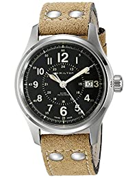 Hamilton Khaki Field Automatic Black Dial Brown Leather Mens Watch H70595593