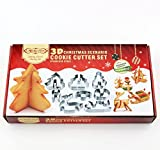 ULee 3D Christmas Cookie Cutters Set 8pc Stainless Steel Cookie Cutters Deal (Small Image)