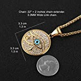 HZMAN 18k Gold Plated Iced Out Eye of Horus Egypt