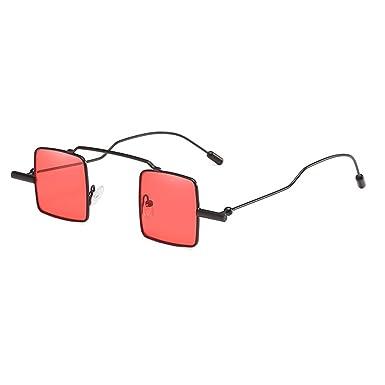 Vintage petit carré lunettes de soleil hibote femmes hommes Steampunk gothique décoré lunettes réfléchissant métal mince cadre C1 rBC9Y2bj