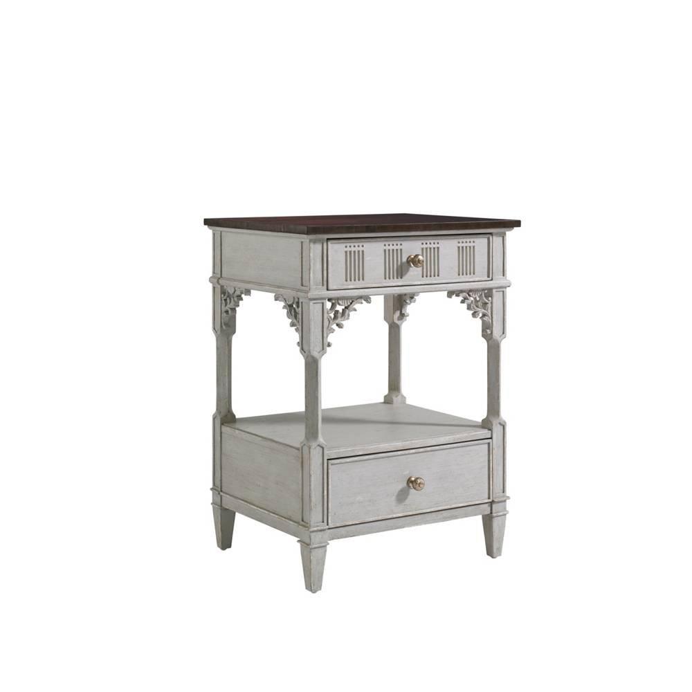 Stanley 302-53-81 Charleston Regency Palmetto Telephone Table, Gray Linen Finish