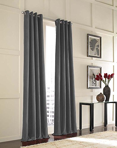 Curtainworks Messina Grommet Cotton Curtain Panel, 52 by 132