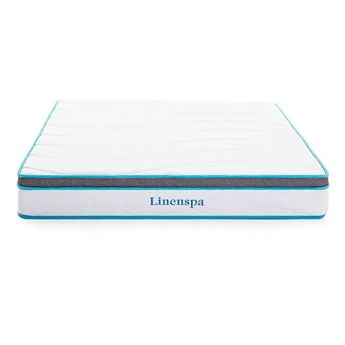 "LinenSpa 8"" Memory Foam & Innerspring Mattress"