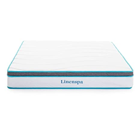 Review Linenspa 8 Inch Memory Foam and Innerspring Hybrid Mattress - Twin