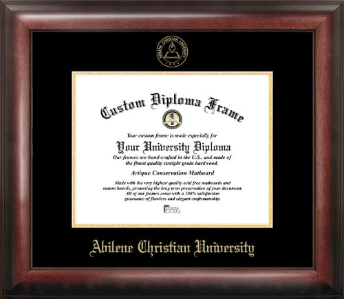 Campus Images ''Abilene Christian University Embossed Diploma'' Frame, 8.5'' x 11'', Gold by Campus Images