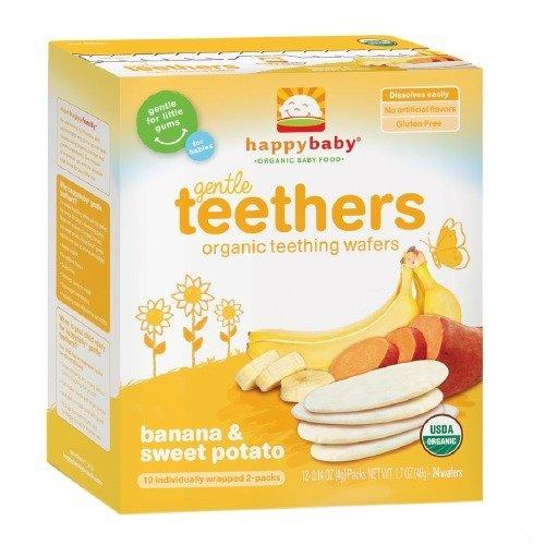 (Happy Baby Gentle Teethers Organic Teething Wafers, Banana & Sweet Potato 12 ea (Pack of 1))
