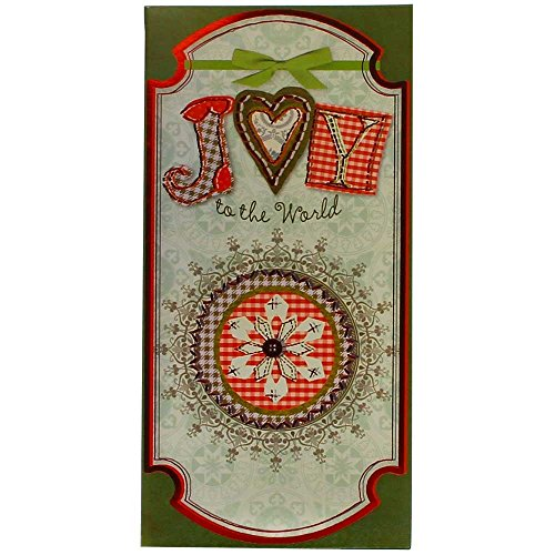 JAM Paper Christmas Money Card Sets - Joy to the World Christmas - 6/pack