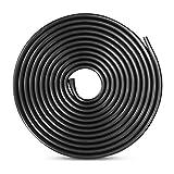 DUGUE 10M de Tira de Protección para Coche Protección de Goma de Puerte de Coche Goma Borde de Coche (Negro)