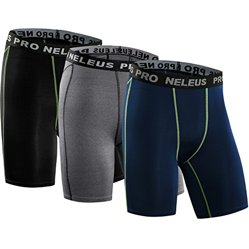 Compression Short,047,Black,Grey,Navy Blue,US L,EU XL (Nxl System)