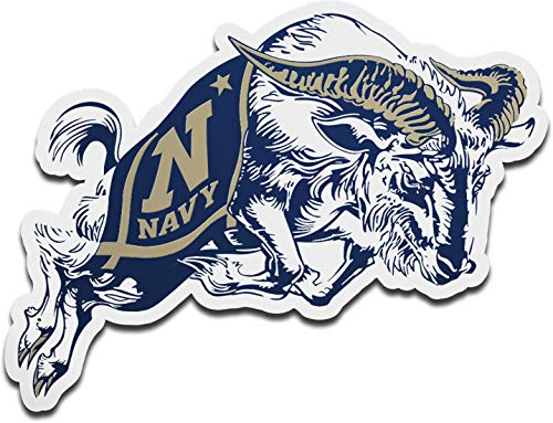 WinCraft United States Naval Academy Navy Midshipmen Premium Auto Emblem Decal, Hard Acrylic, 3.75x2.5 inches