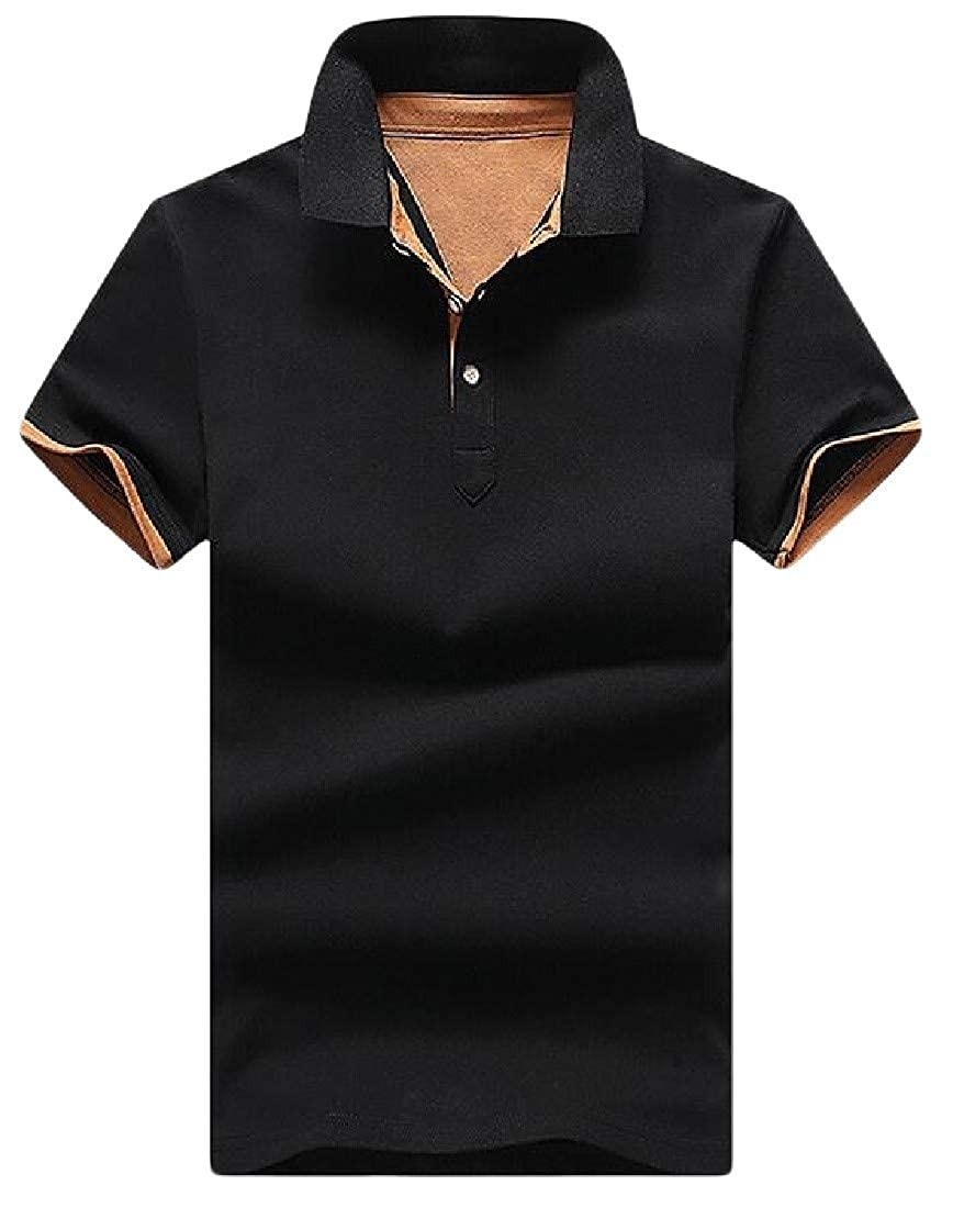 Pluszing Men Short Sleeve Polos Shirt Breathable Summer Top Tee T-Shirt