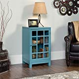 Captivating Sauder Carson Forge Accent Curio Cabinet In Moody Blue