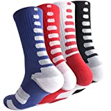 football 3 4 tights - Boys Sock Basketball Soccer Hiking Ski Athletic Outdoor Sports Thick Calf High Crew Socks 4 Pack C