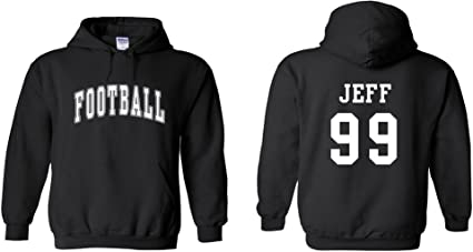 Cowboys Custom Personalized Name /& Number Adult Jersey Hooded Sweatshirt