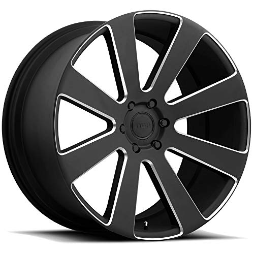 DUB 8 Ball 22 Black Milled Wheel / Rim 6x5.5 with a 30mm Offset and a 78.1 Hub Bore. Partnumber - Dub Wheels