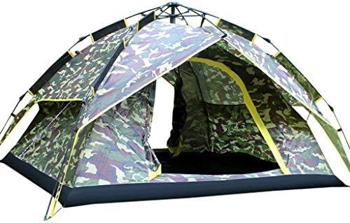 キャンプテント自動ポップアップ3-4人カモフラージュ家族テント屋外防雨軽量ドームテント