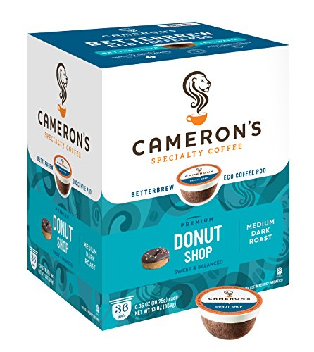 Cameron's Single Serve Coffee, Donut Shop Blend, 36 Count