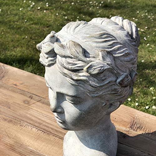 LORIGINALE DECO Style Ancien Grand Buste T/ête de Femme en Ciment 28 cm x 20 cm