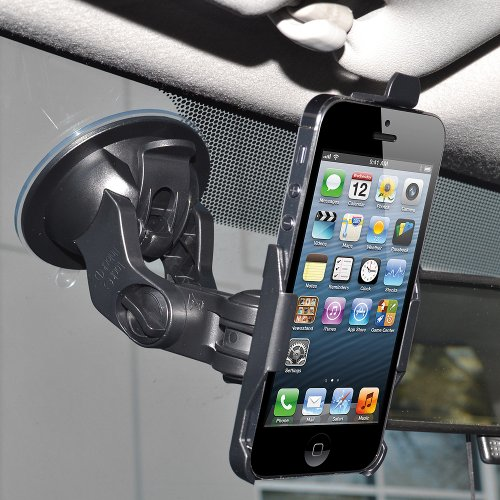 Amzer AMZ95601 Suction Cup Mount Holder for Windshield, Dashboard or Console for Apple iPhone 5, iPhone 5S, iPhone SE (Fits All Carriers) - (Amzer Suction Cup)