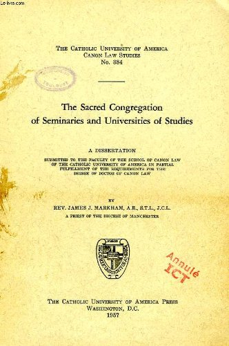 The Sacred Congregation of Seminaries and Universities of Studies.