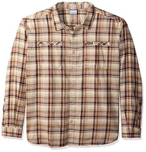 Multi Plaid Flannel - Columbia Men's Flare Gun Washed Long Sleeve Flannel, Delta Multi Plaid, M