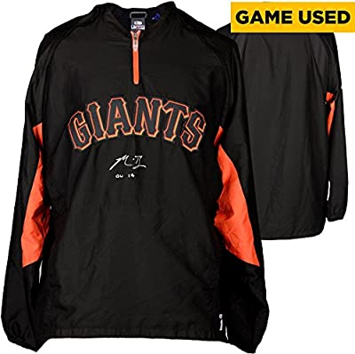 Madison Bumgarner San Francisco Giants Autographed Black Game Used Jacket with Sleeves and GU 14 Inscription - Fanatics Authentic Certified