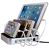 Simicore USB Charging Station Dock & Organizer for Smartphones, Tablets & Other Gadgets - Multiple USB Charger & Cell Phone Docking Station - ?? OUT OF STOCK ?? DO NOT BUY ??